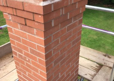 Chimney on completion