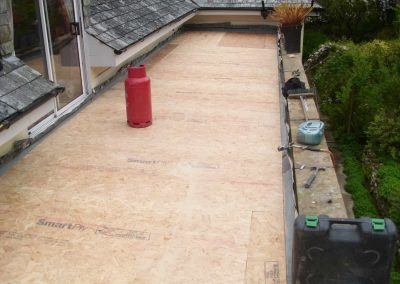 Re-decking using 18m smart ply