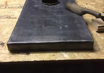 Making lead tray