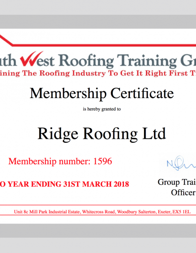 South West Roofing Training Group