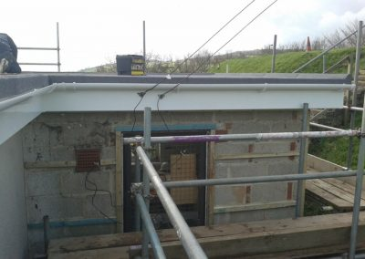 Boxing in old concrete gutter with full replacement UPVC board