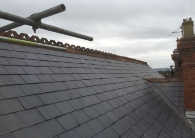 Finished natural slate project Taunton Somerset
