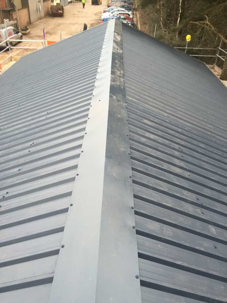 Box Profile Sheeting Ridge Roofing